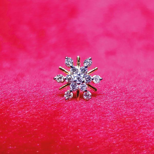 Diamond Nosepin - Gems Jewellers & Gems Stone